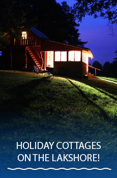 Holiday cottages on the lakeshore