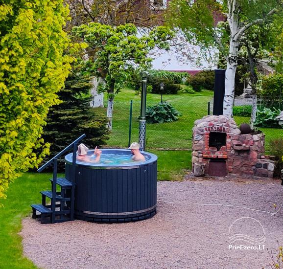 Holiday in Minge (Lithuanian Venice) Villa Minge for up to 12-14 persons: hall, sauna, bedrooms - 5
