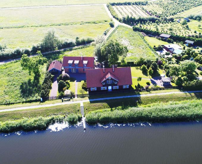Holiday in Minge (Lithuanian Venice) Villa Minge for up to 12-14 persons: hall, sauna, bedrooms - 1