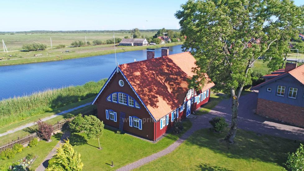 Holiday in Minge (Lithuanian Venice) Villa Minge for up to 12-14 persons: hall, sauna, bedrooms - 7