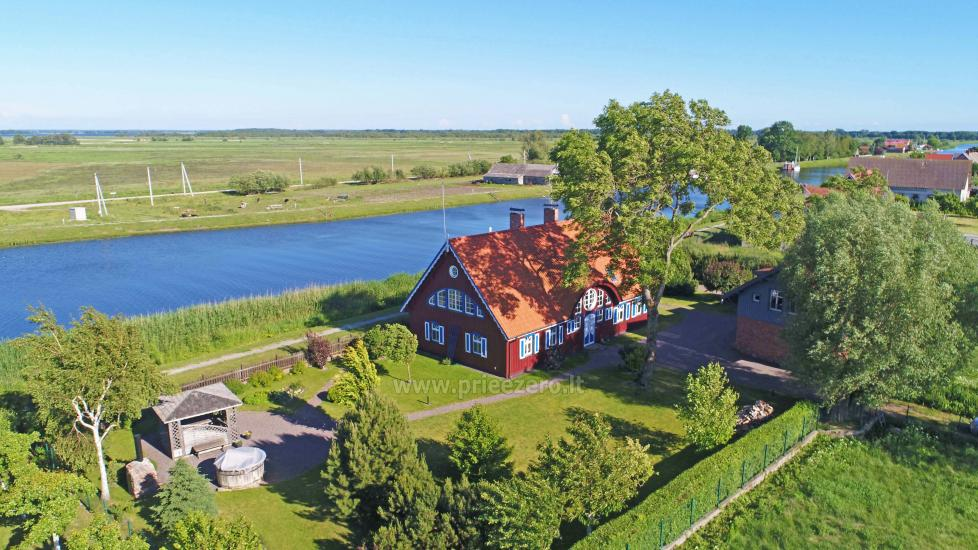 Holiday in Minge (Lithuanian Venice) Villa Minge for up to 12-14 persons: hall, sauna, bedrooms - 4