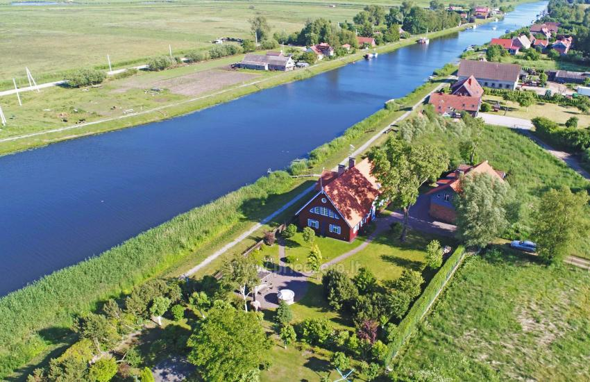 Holiday in Minge (Lithuanian Venice) Villa Minge for up to 12-14 persons: hall, sauna, bedrooms - 8