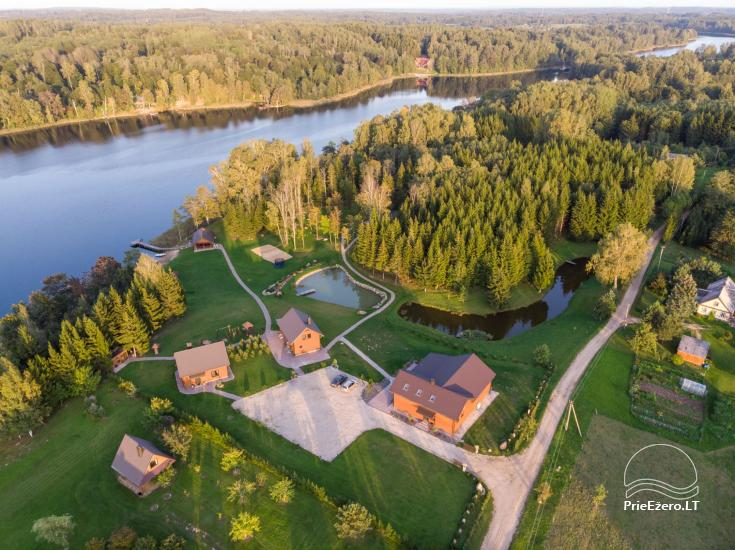 Homestead 5 stories by the lake in Utena district - 22