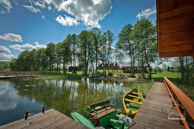 Homestead o nthe shore of the lake Vila Viesai – villas, holiday cottages with saunas in Trakai district - 5