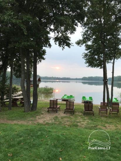 Homestead on the shore of the lake Vila Viesai – villas, holiday cottages with saunas in Trakai district - 12
