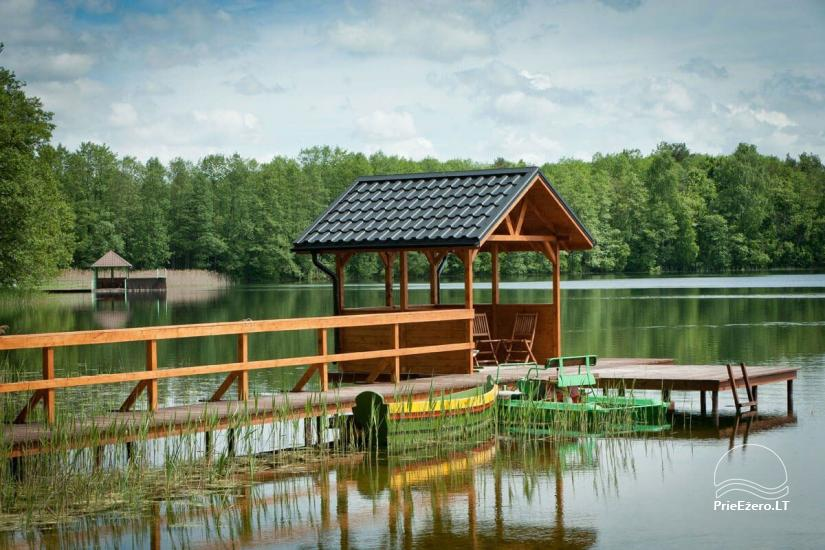 Homestead o nthe shore of the lake Vila Viesai – villas, holiday cottages with saunas in Trakai district - 8