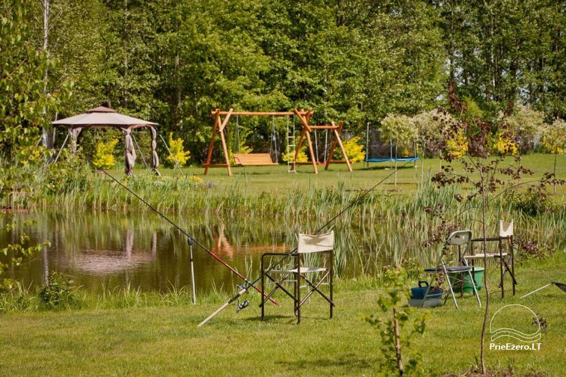 Homestead on the shore of the lake Vila Viesai – villas, holiday cottages with saunas in Trakai district - 19
