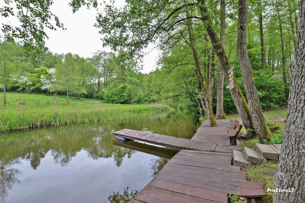 Kayak, bath rental on the shore of the lake Ančia - 13