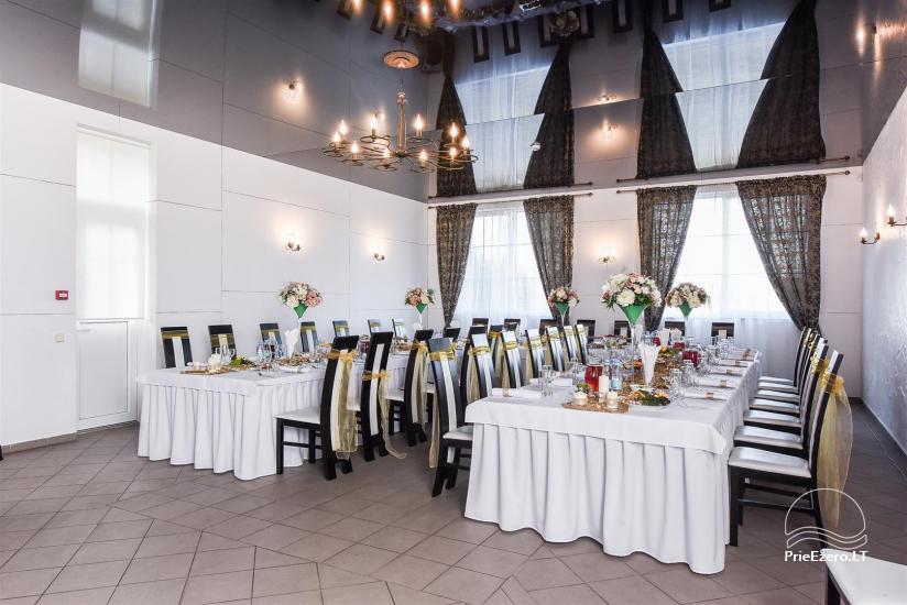 Gehöft in Lazdijai Bezirk Vitų oazė. Bankettsaal für 100 Personen, Ferienhaus, Badehaus - 2