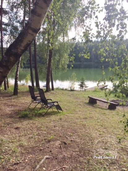 Camping for relaxation at Lake Luokesai! There is a boat, a footbridge, arbor, fireplace - 2