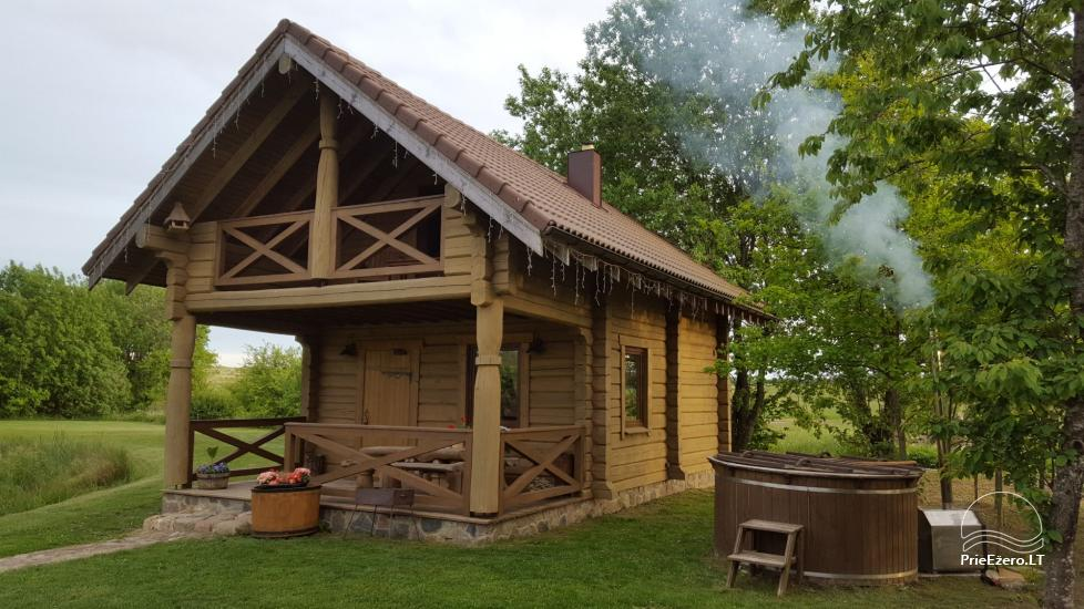 Rural tourism homestead Liepija: holiday cottages, hall, sauna, swimming pool - 4
