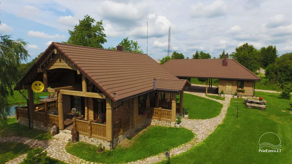 Rural tourism homestead Liepija: holiday cottages, hall, sauna, swimming pool - 1