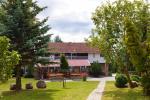 Countryside tourism near lake Vistytis. Bath, banquet hall, basketball, camping