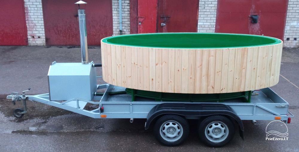 Sauna, hot tub on the shore Šešupė, kayak rentals - 3