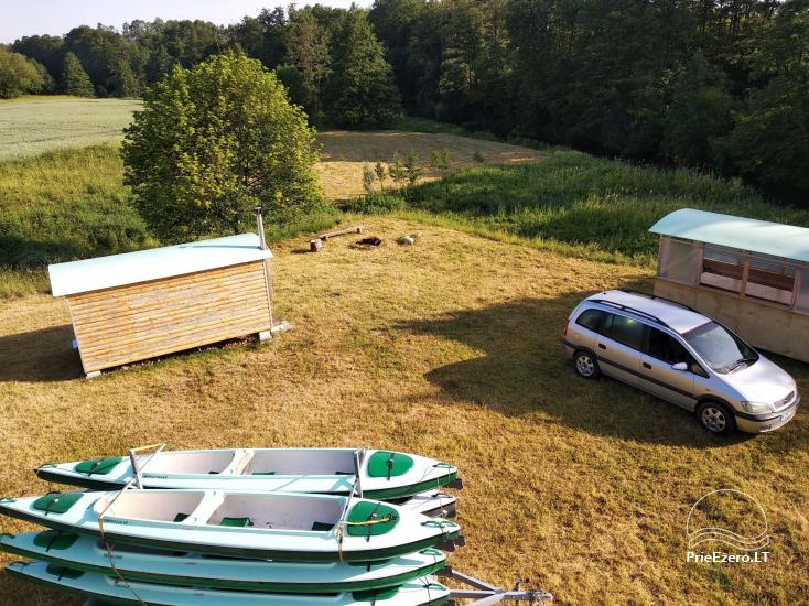 Sauna am Ufer Šešupė, Kajakverleih - 4