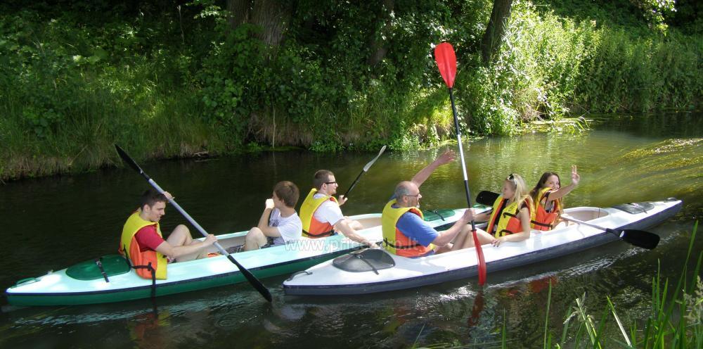 Bath on shore Šešupė, kayak rentals - 14