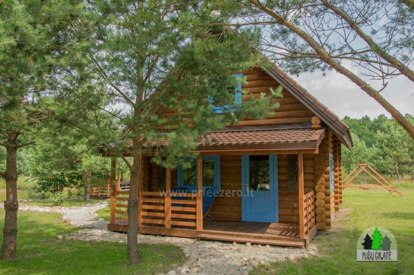 Drewniany dom z sauna dla 6 osób Pusu giraite - 1