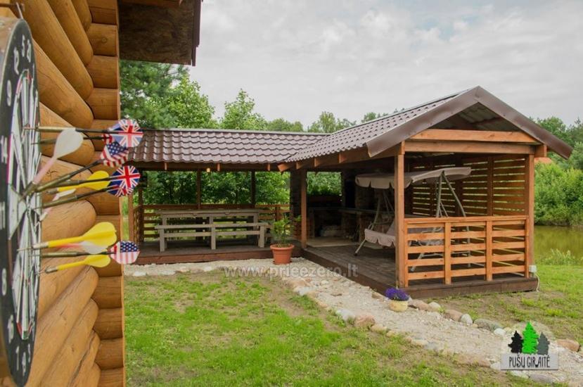 Drewniany dom z sauna dla 6 osób Pusu giraite - 6