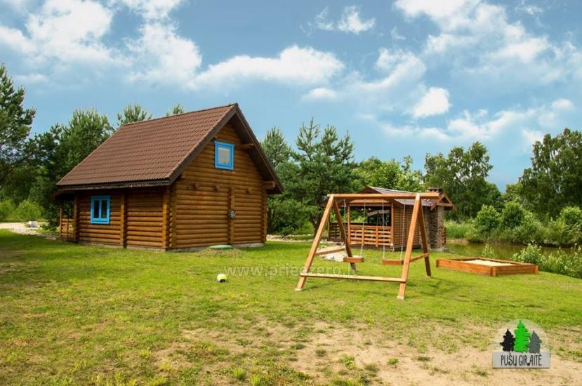 Drewniany dom z sauna dla 6 osób Pusu giraite - 2