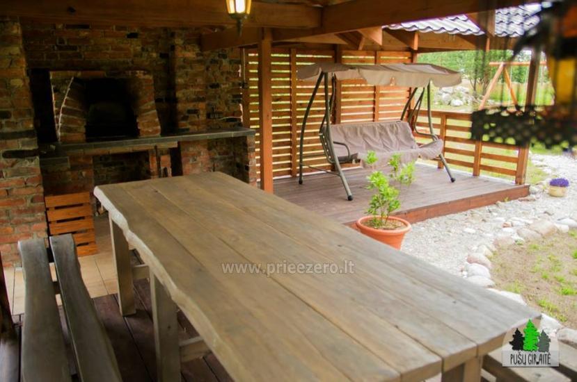 Drewniany dom z sauna dla 6 osób Pusu giraite - 7