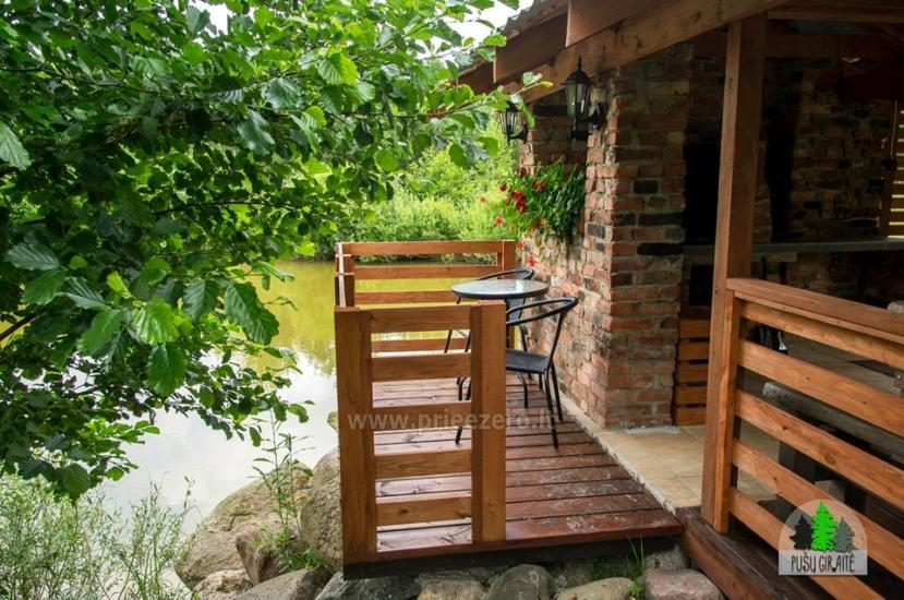 Log villa with sauna for 6 persons Pusu giraite - 8