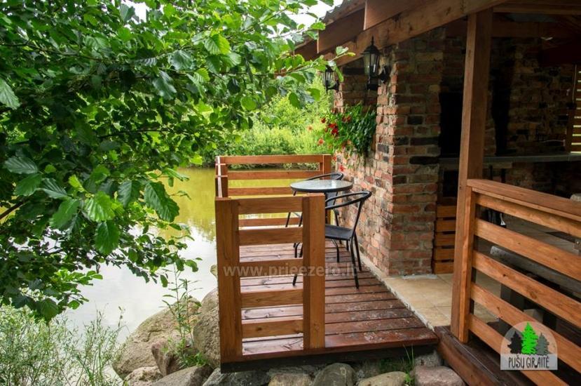 Drewniany dom z sauna dla 6 osób Pusu giraite - 8