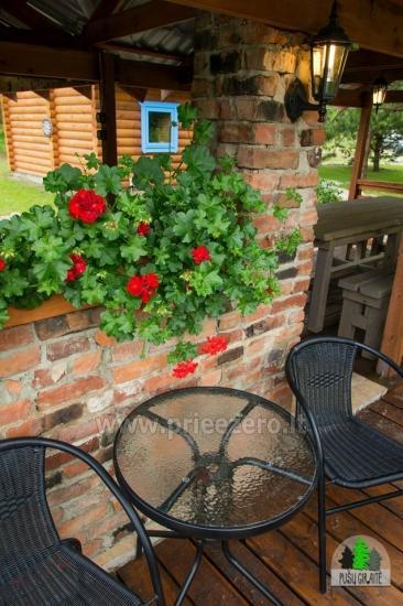 Drewniany dom z sauna dla 6 osób Pusu giraite - 9