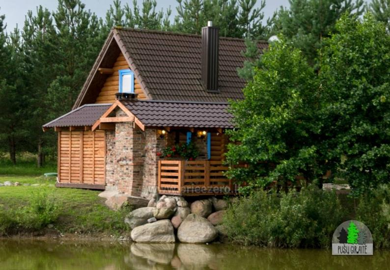 Log villa with sauna for 6 persons Pusu giraite - 4