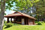 Holiday cottage for two with sauna on the shore of the lake, homestead Pas Drambliuką