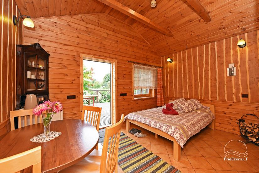 Holiday cottage for two with sauna on the shore of the lake, homestead Pas Drambliuką - 3
