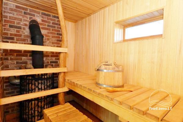 Holiday cottage for two with sauna on the shore of the lake, homestead Pas Drambliuką - 5