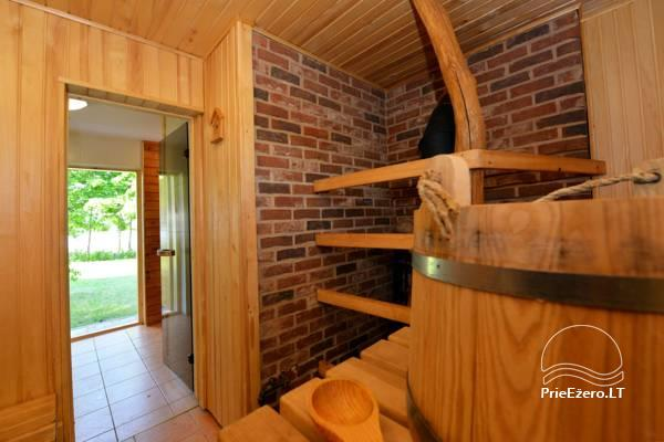 Holiday cottage for two with sauna on the shore of the lake, homestead Pas Drambliuką - 6