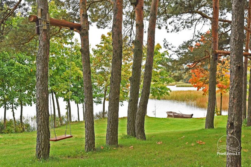 Holiday cottage for two with sauna on the shore of the lake, homestead Pas Drambliuką - 10