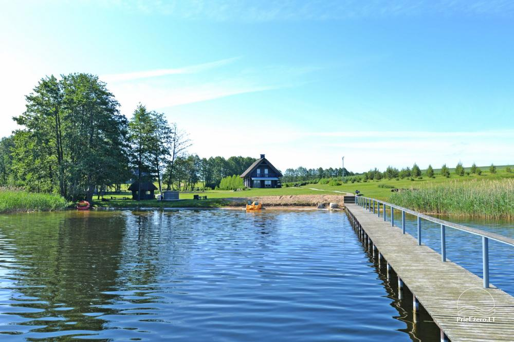 Homestead for feasts on the lake shore in Alytus district Atesys - 50