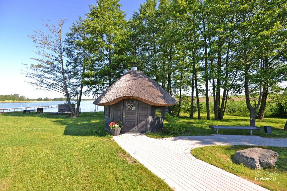 Homestead for feasts on the lake shore in Alytus district Atesys - 55