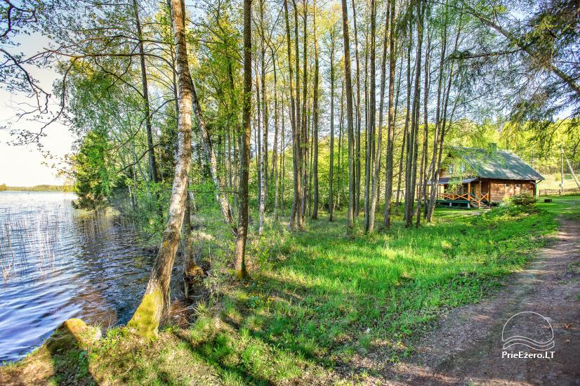 Wieś gospodarstwo w pobliżu jeziora Luokesu w rejonie Moletai, Litwa - 11