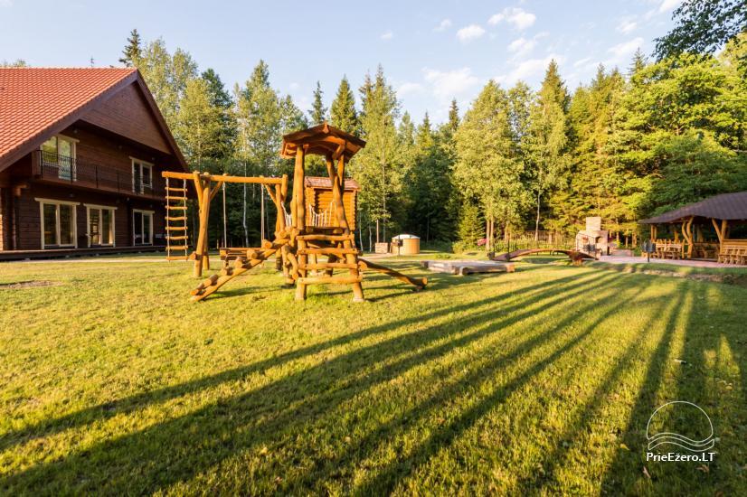 Villa Pasaka near Kaunas: hall, sauna, mini SPA, recreation and entertainments - 31