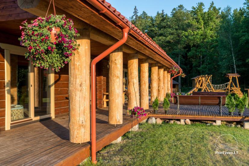 Villa Pasaka near Kaunas: hall, sauna, mini SPA, recreation and entertainments - 29