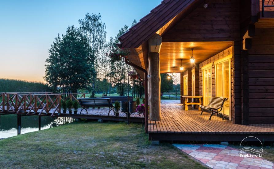 Villa Pasaka near Kaunas: hall, sauna, mini SPA, recreation and entertainments - 36
