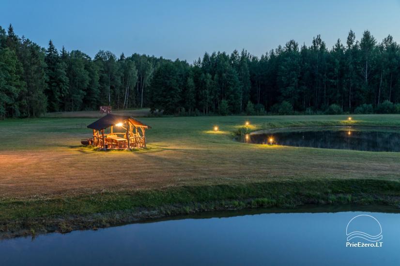 Villa Pasaka near Kaunas: hall, sauna, mini SPA, recreation and entertainments - 37