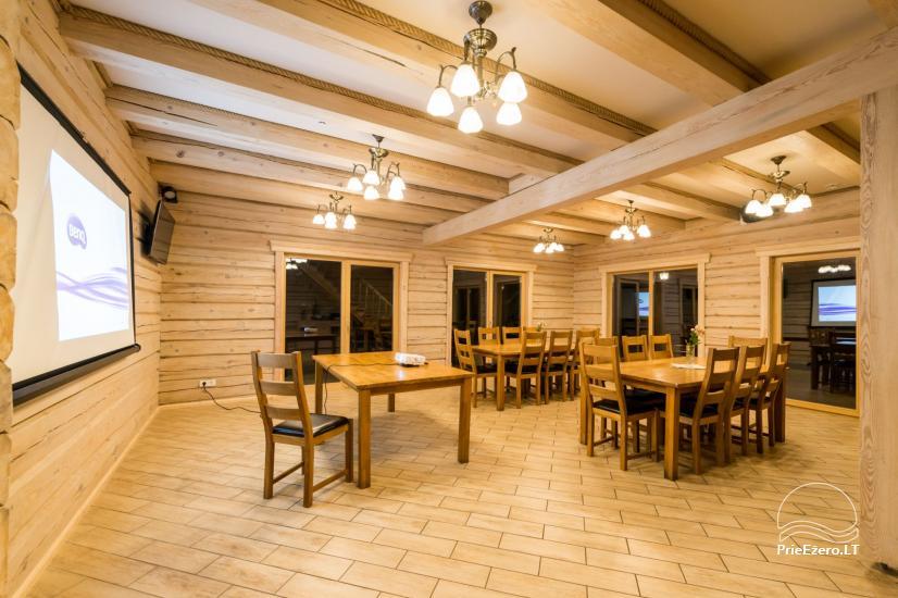 Villa Pasaka near Kaunas: hall, sauna, mini SPA, recreation and entertainments - 12