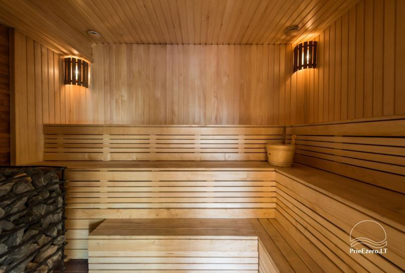 Villa Pasaka near Kaunas: hall, sauna, mini SPA, recreation and entertainments - 42