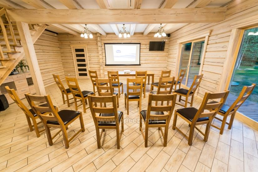 Villa Pasaka near Kaunas: hall, sauna, mini SPA, recreation and entertainments - 9