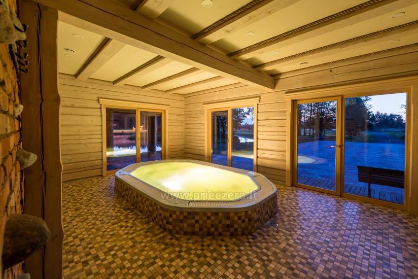 Villa Pasaka near Kaunas: hall, sauna, mini SPA, recreation and entertainments - 41