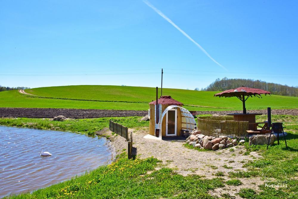 Wieś zagroda Stasiuko sodyba w Trockim rejonie - 61
