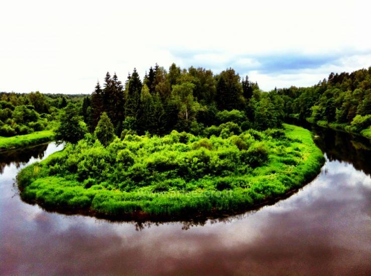 Кемпинг и каяках возле реки Швянтойи - 9