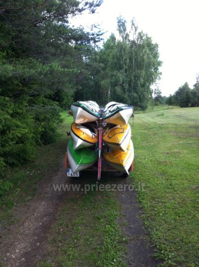 Campsite and kayaks near the river Sventoji - 3