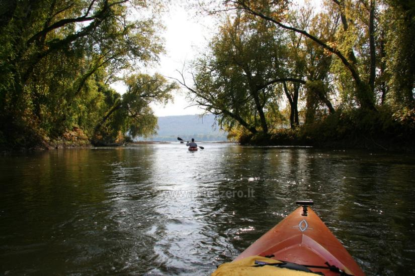 Кемпинг и каяках возле реки Швянтойи - 1
