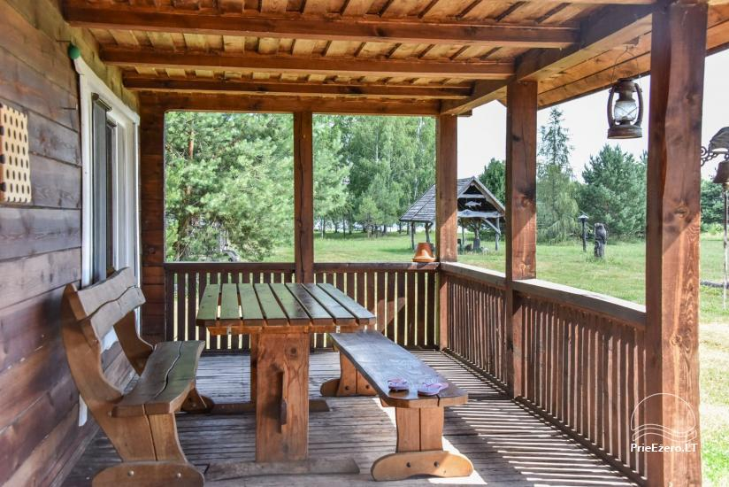 Homestead on the shore of the lake Sartai in Zarasai district Lapėnų Sodyba – holiday cottages - 35