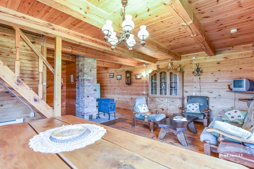 Homestead on the shore of the lake Sartai in Zarasai district Lapėnų Sodyba – holiday cottages - 38